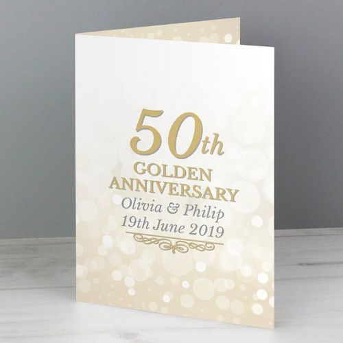 50th Golden Anniversary Card